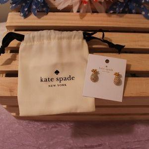 NEW kate spade Pineapple Stud Earrings By the Pool